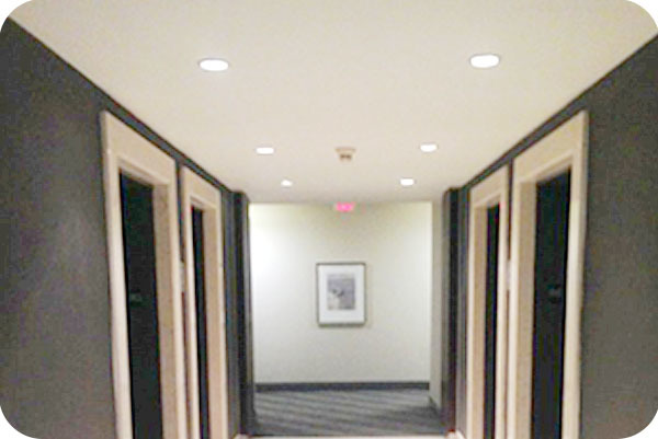 4inch Recessed LED Can Light in Hotel-Toronto Canada