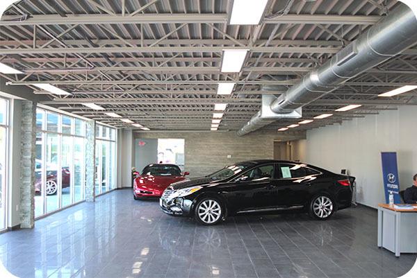 OKT 2x4ft Led Panel Light In Hyundai Car Dealer Shop - Conneticut