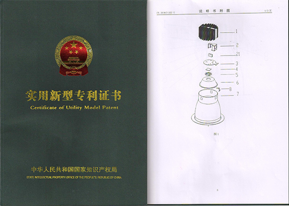 Certificate of Utility Model Patent for Reflectors Removable LED Downlight