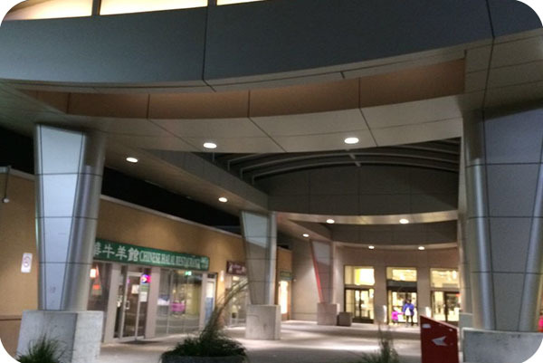 OKT 8inch 23w LED Commercial Downlight In Leslie Finch Plaza In Toronto