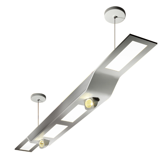 Hybrid Architectural LED Linear Pendant Light Fixtures