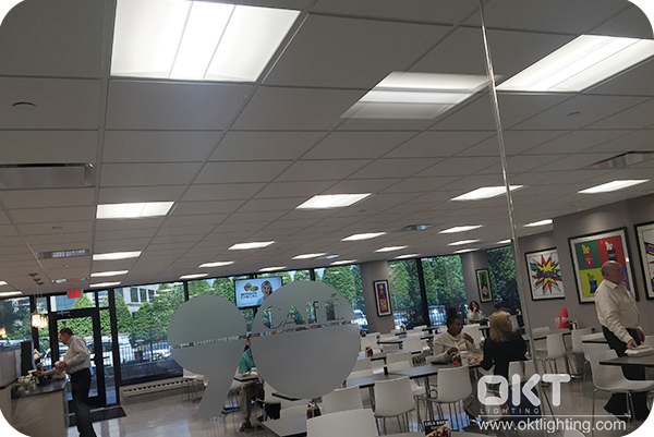 2x2 Led Troffer Light In The Office Cafeteria, New Jersey
