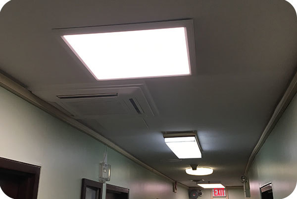 2x2 LED Panel Surface Mount for Hotel in NY