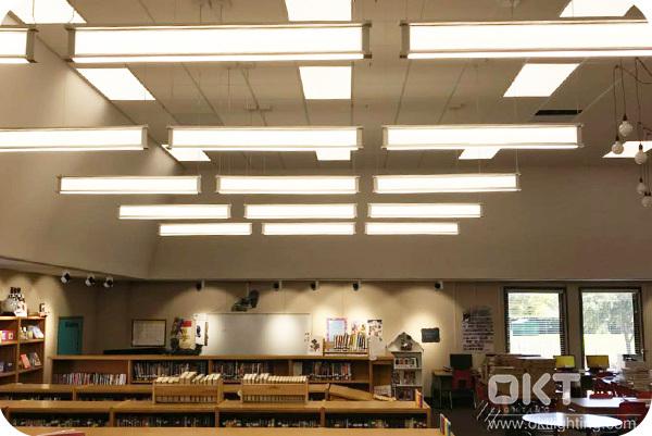 I Beam Light for library, St Mark Catholic School, Plano