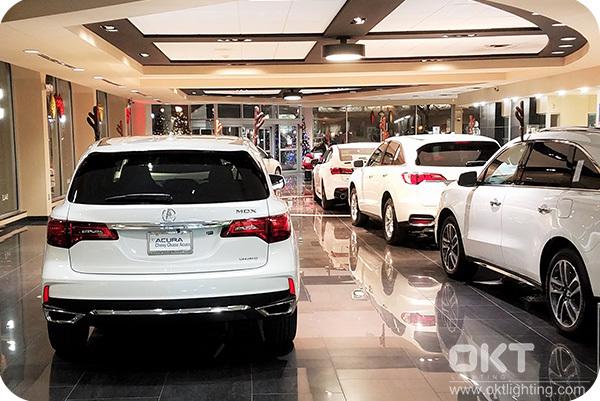 18W LED Downlights for New Acura Car Dealer Store in Atlanta
