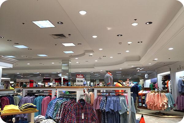 OKT LED Commercial Downlight in Shopping Mall - North Carolina