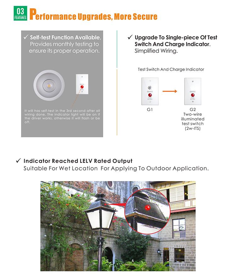 LED Emergency Battery Driver for led light